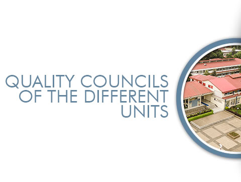 QUALITY COUNCILS OF THE DIFFERENT UNITS